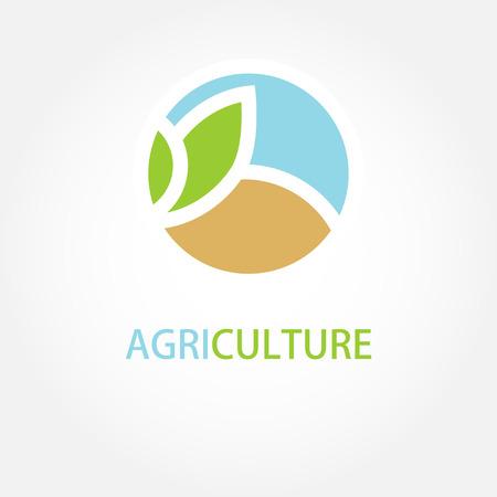 Illustration pour Vector sign Organic farming Greengrocer. - image libre de droit