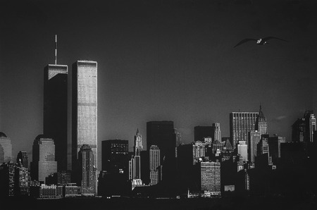 Photo pour Skyline of New York with the Twin Towers - image libre de droit