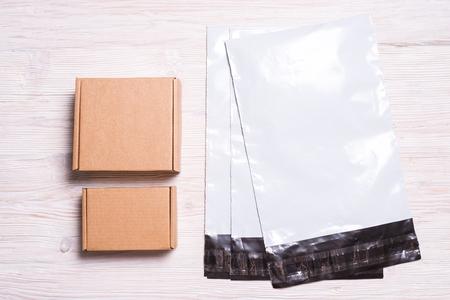 Photo pour Postal envelopes with box - image libre de droit