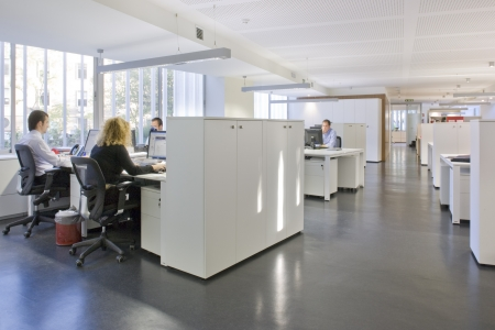 Business executives working in an office, Madrid, Spain