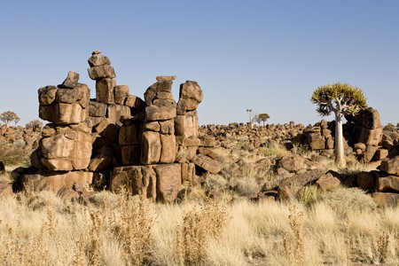 Giants Playground near Keetmanshoop, a masterpiece of erosion, Republic of Namibia, Southern Africa