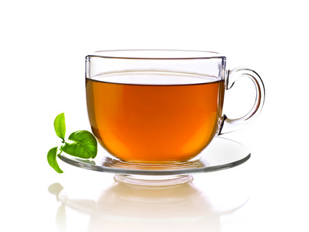 Photo for Cup of tea, isolated on white - Royalty Free Image