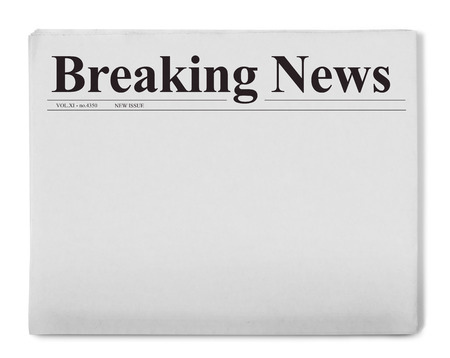 Photo for Breaking news title on newspaper - Royalty Free Image