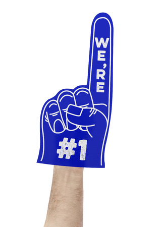 Photo for We're number 1 foam hand - Royalty Free Image