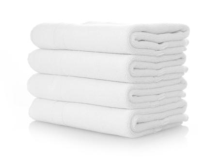 Foto de Clean white towels - Imagen libre de derechos
