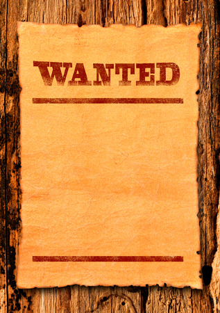 Photo for Wanted blank poster - Royalty Free Image