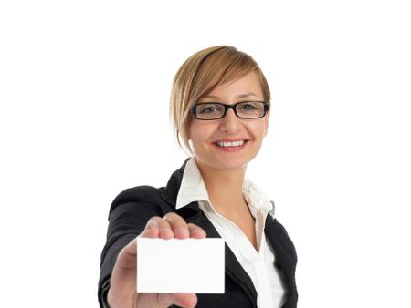 Foto de Business card presentation - Imagen libre de derechos