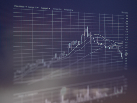 Photo for Technical financial graph - Royalty Free Image