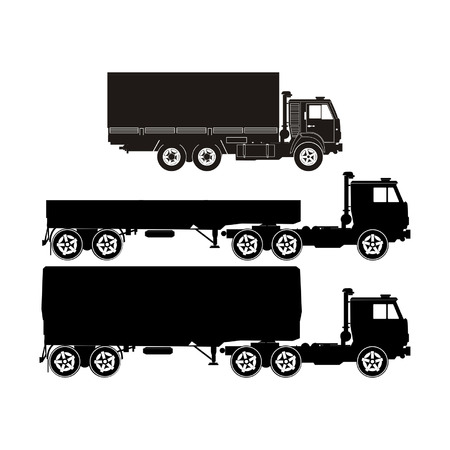 Transportation silhouettes set 6