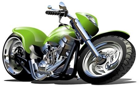 Vector Cartoon Motorcycle (one-click repaint)