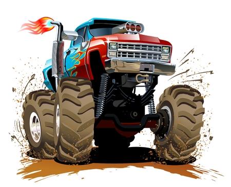 Illustration pour Cartoon Monster Truck - image libre de droit