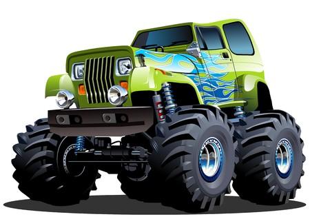 Illustrazione per Cartoon Monster Truck - Immagini Royalty Free