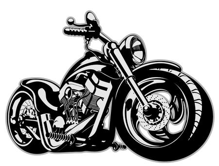 Illustration pour Vector Cartoon Motorbike - image libre de droit