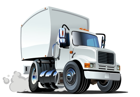 Illustration pour Cartoon delivery cargo truck - image libre de droit