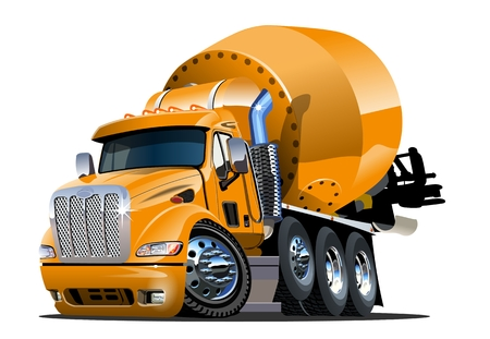 Illustration pour Vector Cartoon Mixer Truck Available EPS-10 vector format separated by groups and layers for easy edit - image libre de droit