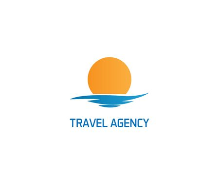 Illustration pour Travel agency logo on white - image libre de droit