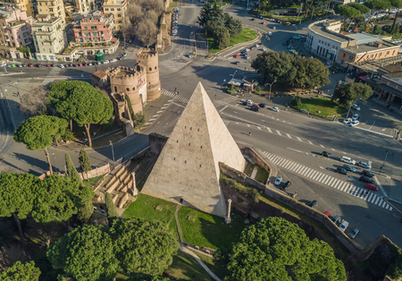 Photo for The Pyramid of Cestius in Rome - Royalty Free Image