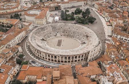 Foto de Aerial view of Arena di Verona - Imagen libre de derechos
