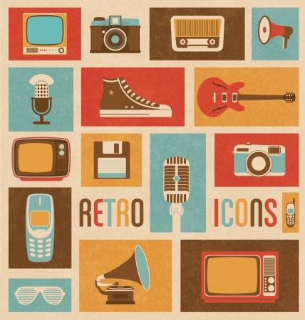 Photo pour Retro Icon Mix - image libre de droit