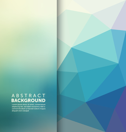 Illustration pour Abstract Background - Triangle and blurred banner design - image libre de droit