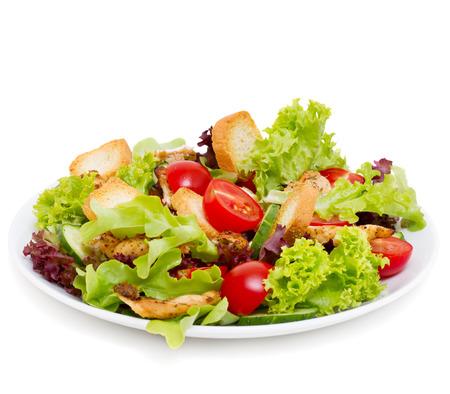 Photo pour Caesar Salad isolated on white - image libre de droit