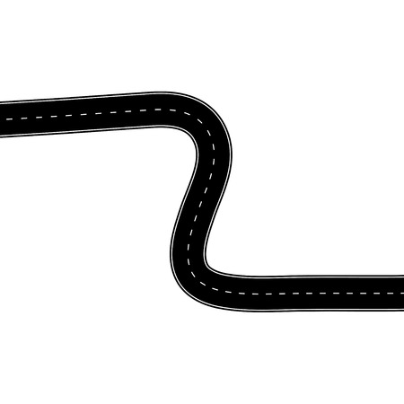 Illustration pour road illustration on white  - image libre de droit
