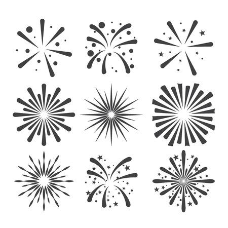 Ilustración de fireworks icon - Imagen libre de derechos