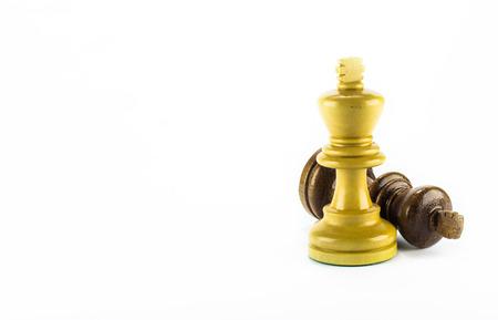 Foto de chess wood on white background - Imagen libre de derechos