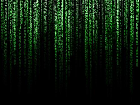 Photo pour Matrix (computer generated symbols on black backdrop) - image libre de droit