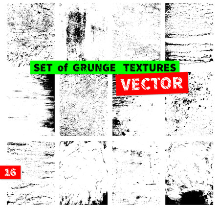 Illustration for Set of grunge textures in a single file. Vector illustration - Royalty Free Image