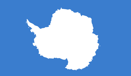 Illustration pour Vector Illustration of Antarctica Flag - image libre de droit
