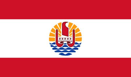 Illustration pour French Polynesia Flag - image libre de droit