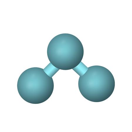Illustration pour The molecular formula of ozone. O3 vector illustration. The abstract model. - image libre de droit