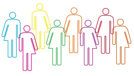 Illustration pour gender diversity illustration - image libre de droit
