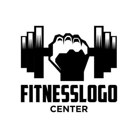 Photo for Fitness Logo Template - Royalty Free Image