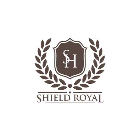 Photo for Shield Vector Template - Royalty Free Image
