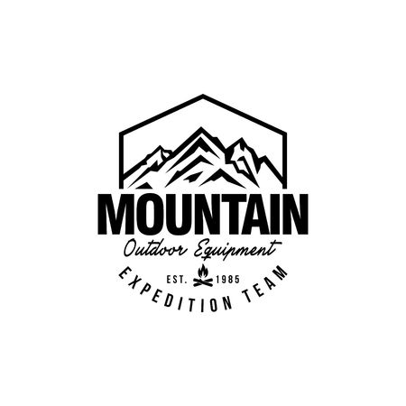 Foto de Mountain Hipster Logo template - Imagen libre de derechos