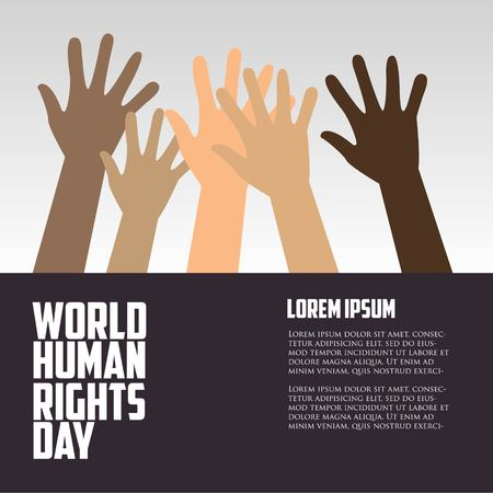Photo for Human Rights Day, poster, quotes, vector template - Royalty Free Image
