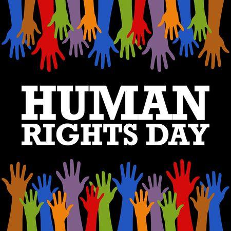 Foto de Human Rights Day Vector Template - Imagen libre de derechos