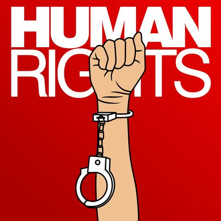 Photo for Human Rights Day Vector Template - Royalty Free Image