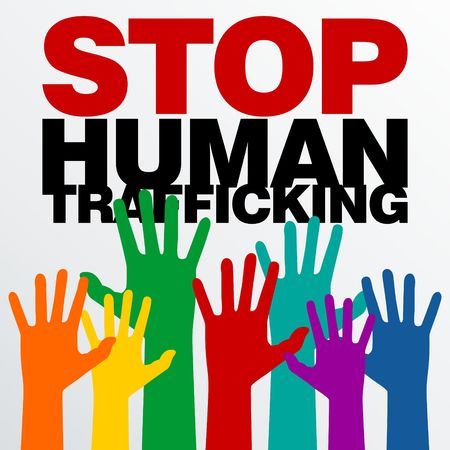 Photo for Human Trafficking Vector Template - Royalty Free Image