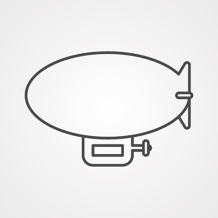 Illustration pour Airship zeppelin line icon, outline vector sign, linear style pictogram isolated on white. Dirigible balloon symbol, logo illustration. Editable stroke - image libre de droit