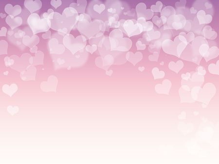 Pink purple hearts abstract background