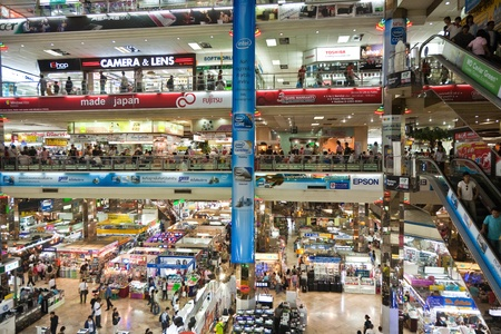 BANGKOK, THAILAND - DECEMBER 21: inside the Pantip Plaza, the bigges electronic and software shopping complex in Thailand to get some christmas bargain on December 21, 2009 in Bangkok, Thailand.