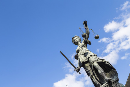 Photo for Statue of Lady Justice (Justitia) in Frankfurt, Germany - Royalty Free Image