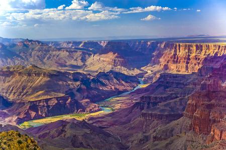 Photo pour Grand canyon at sunrise with river Colorado - image libre de droit