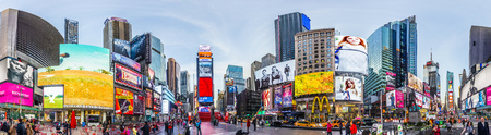 Foto für NEW YORK, USA - OCT 21, 2015: Times Square, featured with Broadway Theaters and huge number of LED signs, is a symbol of New York City and the United States. - Lizenzfreies Bild