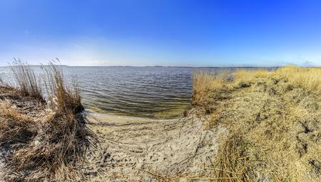 Foto de Achterwasser in Zinnowitz at island of Usedom at the baltic sea - Imagen libre de derechos