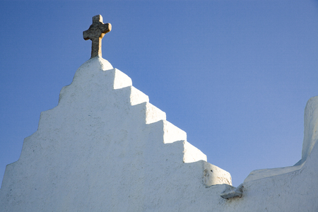 minimalist greek church detail