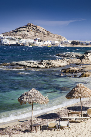 beautiful beach in Mykonos  Greece